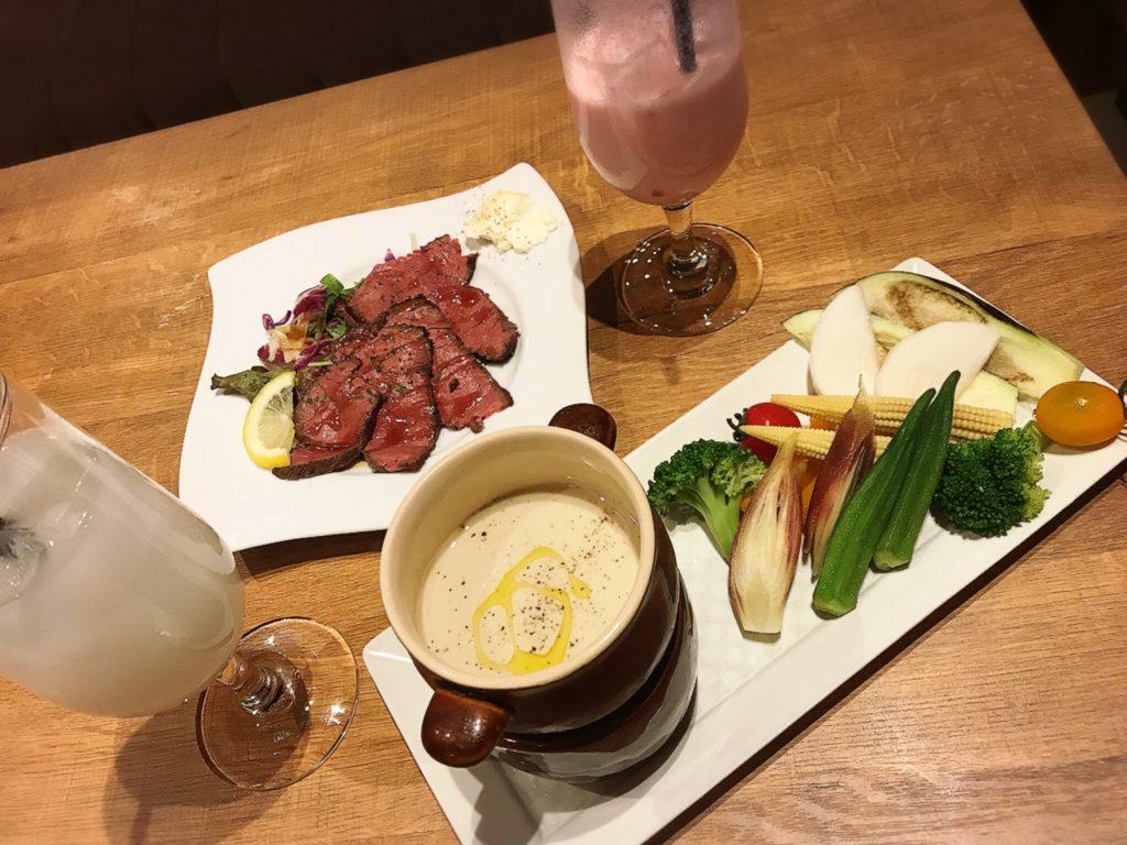 JIS梅田の料理