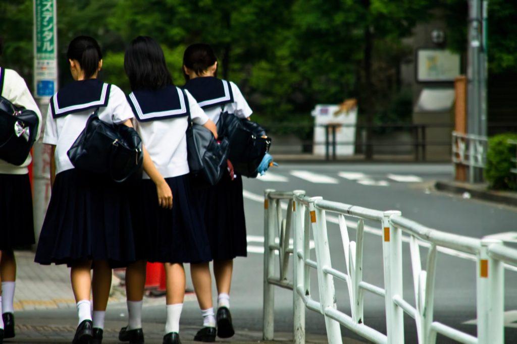 中学生の写真